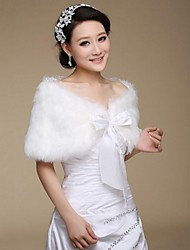 Fur Wraps / Wedding  Wraps Shrugs Sleeveless Faux Fur White Wedding / Party/Evening