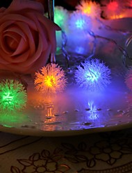 cheap -20-LED 4M Waterproof Decoration Snow Pompon RGB Light LED String Light (220V)