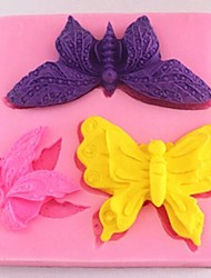 farfalla fondente strumenti di decorazione torta al cioccolato della torta del silicone della muffa, l8cm * w8.5cm * h1.4cm