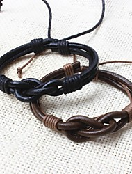 cheap -Z&X®  Vintage Tibetan Handmade Men's Leather Bracelets (1pc, 2 Colors Options: Black, Coffee) Christmas Gifts