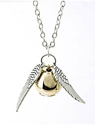 cheap -Women's Ball Pendant Necklace  -  Fashion Wings / Feather Silver Bronze Necklace For Birthday Gift Daily