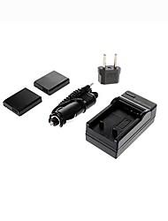 ismartdigi-Panasonic DMW-BCJ13 x2 (1250mAh, 3.6V) batterie de l'appareil + EU Plug + chargeur de voiture pour Panasonic LX5 p LX7 d-lux5