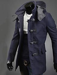 Bigman Langærmet slank mode hoodie causual overfrakker