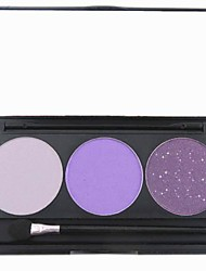 cheap -3 Eyeshadow Palette Dry / Matte / Shimmer / Mineral Eyeshadow palette Powder Normal Daily Makeup