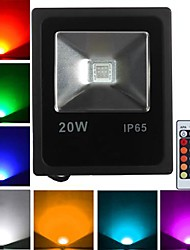 cheap -LED Floodlight 1 High Power LED 1600 lm RGB K Remote-Controlled AC 85-265 V