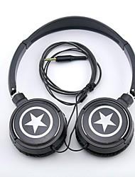 Недорогие -spc06 звезды логотип для стереонаушников 3,5 мм разъем над ухом для mp3 / телефонов / ПК