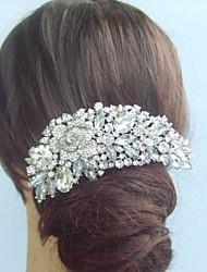 Cristal liga strass casamento da flor do vintage bridal cabelo das mulheres