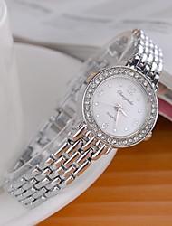 Mujer Reloj de Moda Simulado Diamante Reloj Cuarzo La imitación de diamante Aleación Banda Destello Plata