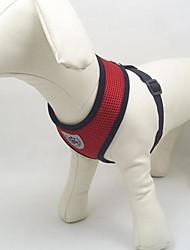 preiswerte -Hund Geschirre Atmungsaktiv Textil Maschen Schwarz Rot Blau Rosa