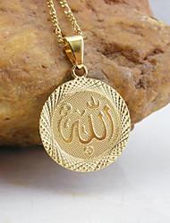 baratos -18k de ouro chapeado pingente allah muçulmano