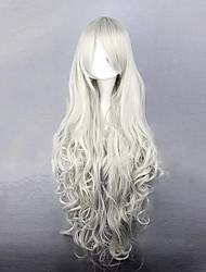 Parrucche Cosplay Il maggiordomo diabilico Queen Victoria Bianco Lungo Anime Parrucche Cosplay 90 CM Tessuno resistente a calore Donna