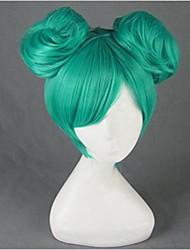 Parrucche Cosplay Vocaloid Hatsune Miku Verde Corto Anime/Videogiochi Parrucche Cosplay 35 CM Tessuno resistente a calore Donna