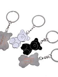 Недорогие -персональный подарок медведь гравюра по металлу пару брелок