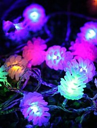 Christmas Pine Cones 4.5M 28 LED Colorful  String Lights High Quality