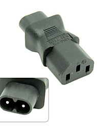 IEC 320 C13 to IEC C8, IEC 3Pin Female to 2Pin Male Power Adapter,C8 Male to C13