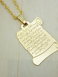 cheap -Men's / Women's Pendant - 18K Gold Plated Religious, Fashion Pendant Golden For Daily Wear