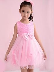 cheap -Girl's Floral Dress All Seasons Sleeveless Pink