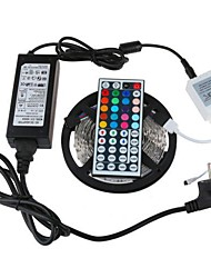 cheap -ZDM® 5m Light Sets 300 LEDs 5050 SMD 1 12V 6A Adapter / 1 44Keys Remote Controller RGB Cuttable / Waterproof / Linkable 100-240 V 1set / IP65 / Self-adhesive