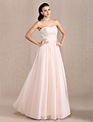 cheap -Sheath / Column Sweetheart Ankle Length Chiffon Prom Formal Evening Military Ball Dress with Appliques Draping Ruched by TS Couture®