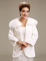 cheap -Faux Fur Wedding Party Evening Fur Wraps Wedding  Wraps Fur Coats Coats / Jackets