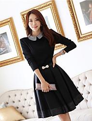 loria lapela pescoço bodycon vestido estilo coreano das mulheres