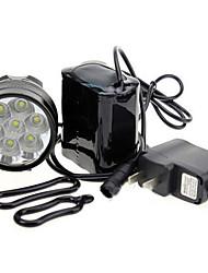 tanie Reflektory-Światła rowerowe Światła przednie / Czołówki / Światła rowerowe Sztuk - 3 Tryb 7000 Akumulator 18650 Baterie Kolarstwo Černá Rower Others