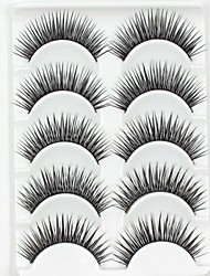 cheap -New 5 Pairs European Sytle Natural Black Long Thick False Eyelashes Party Eyelash for Beauty Makeup