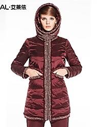 baratos -casaco de inverno fino bordado de médio-longo borla grossa jaqueta de eral®women com um capuz destacável