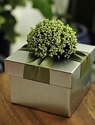baratos -Redonda Quadrada Cúbico Ferro (niquelado) Suportes para Lembrancinhas com Fitas Estampado Flor Caixas de Ofertas Caixas de Presente