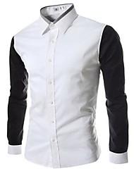 baratos -Homens Camisa Social Clássico Estilo Clássico,Sólido