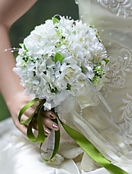 Bouquet sposa Tondo Rose Bouquet Matrimonio Partito / sera Seta 17 cm ca.