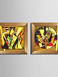 billige -Fantasi Indrammet Lærred / Indrammet Sæt Wall Art,PVC Gylden Ingen Måtte med Frame Wall Art