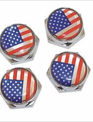Недорогие -DIY американские болт флаг шаблон лицензии универсальный металлическая пластина колпачки для автомобиля