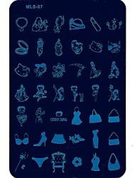 Недорогие -Nail Art тиснения изображений Плиты маникюр шаблон сексуальная сторона тенденция для ежедневных ногтей DIY маникюра