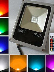 cheap -10W 450-700 lm LED Floodlight 1 leds High Power LED Remote-Controlled RGB AC 85-265V