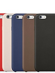abordables -Coque Pour Apple iPhone 6 iPhone 6 Plus Autre Coque Couleur unie Dur faux cuir pour iPhone 6s Plus iPhone 6s iPhone 6 Plus iPhone 6