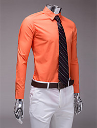 Classic / Semi-Spread Neck Long Sleeves Cotton Polyester Shirt for Suits