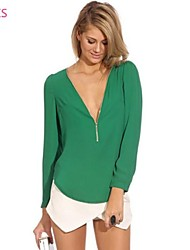 cheap -Women's Casual Shirt Blouse - Solid Colored