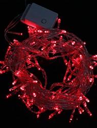 10m 9.6W Natale Flash 100-led lampada luce di striscia di luce rossa (spina di UE, ac 220v)