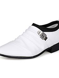 billige -Herre Pæne sko Syntetisk læder Forår / Efterår Komfort Oxfords Sort / Hvid / Brun / Bryllup / Fest / aften