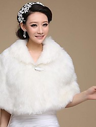 cheap -Faux Fur Wedding Party Evening Fur Wraps Wedding  Wraps Capelets