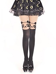 cheap -Thigh High Socks Socks / Long Stockings Sweet Lolita Dress Classic Lolita Dress See Through Princess Women's Lolita Accessories Print Bear