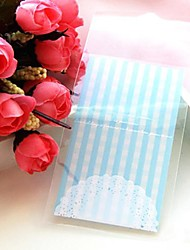 Недорогие -50шт кружева самоклеящиеся печенья хлебобулочные конфеты печенье украшения подарок пластиковый мешок ребенка день рождения свадебные
