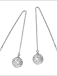 Women's Drop Earrings Costume Jewelry Sterling Silver Rhinestone Jewelry For Wedding Party Daily Casual