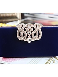 New Style Velvet Box With  Rhinestone Crown  Wedding /Special Occasion Evening Handbags/Clutchs(More Color)