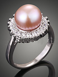 cheap -Women's Luxury Pearl / Imitation Pearl / Zircon Statement Ring - Luxury / Fashion Cream / Dark Pink Ring For Party