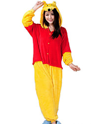 cheap -Kigurumi Pajamas Bear Onesie Pajamas Costume Flannel Toison Cosplay For Adults' Animal Sleepwear Cartoon Halloween Festival / Holiday
