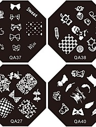 cheap -Nail Art Stamping/Stamper Image Template Plate Nail Stencils/Molds