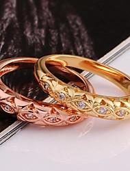 Femme Bagues Affirmées bijoux de fantaisie Plaqué or Bijoux Pour Mariage Soirée Quotidien Décontracté