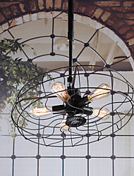 economico -Industrial 5-light Pendant Light
